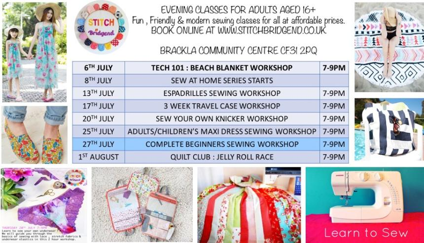 stitch bridgend spring term classes and workshops sewing