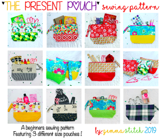 PRESENT POUCH SEWING PATTERN